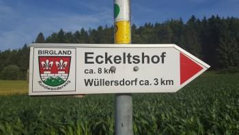 Birgland-Rundwanderweg Markierung