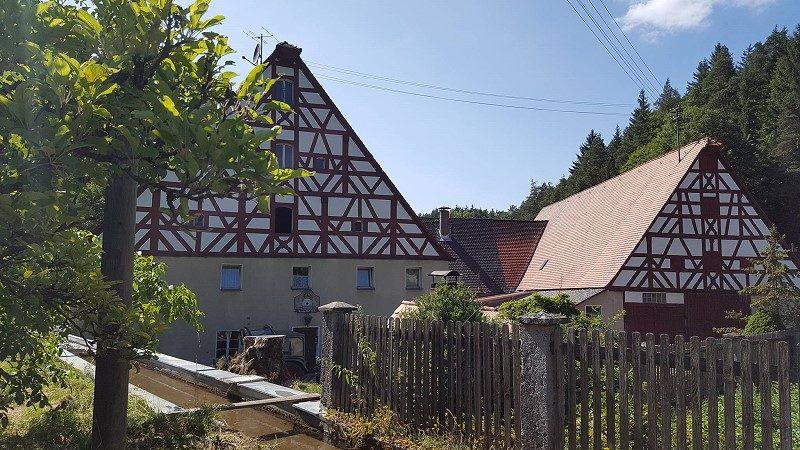 Wandertour östlich von Nürnberg - Hartmannshof - Burg Lichtenegg - Fürnried - Claramühle