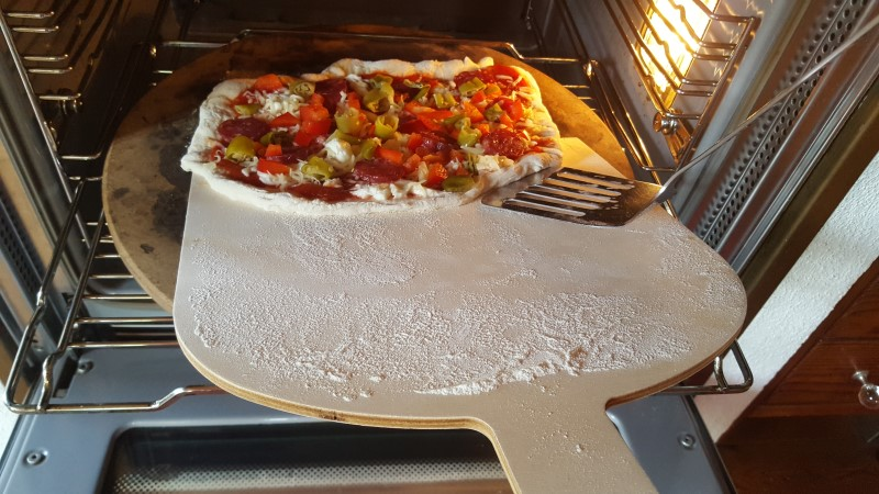 Pizza ab in den Ofen