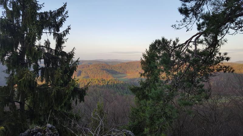 Aussicht vom Teil3 Höhenglücksteig