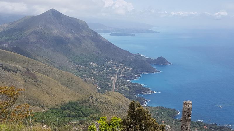 Maratea San Biagio Blick nach Süden zur Küste von Kalabrien