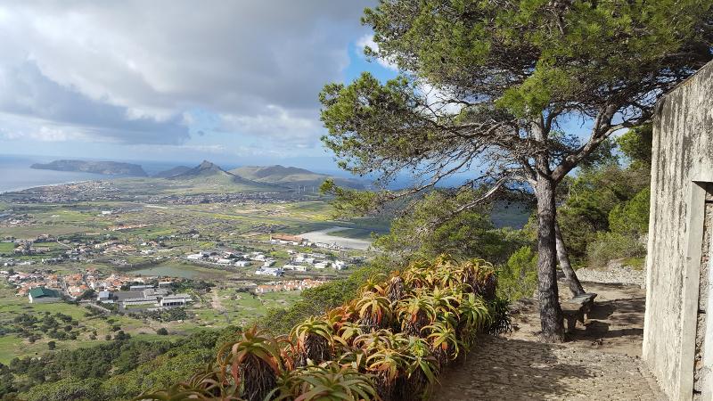 Porto Santo Aussichtspunkt am Pico Castelo