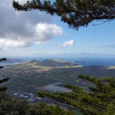 Porto Santo Blick auf das Meer bei Wanderung Pico Castelo Pico Facho
