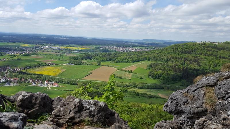 Ausblick vom Glatzenstein auf die Umgebung