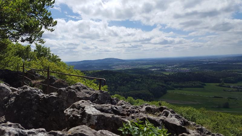 Aussicht vom Glatzenstein in der Hersbrucker Alb