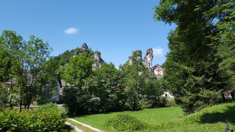 Radtour Fränkische Schweiz - Blick auf Tüchersfeld
