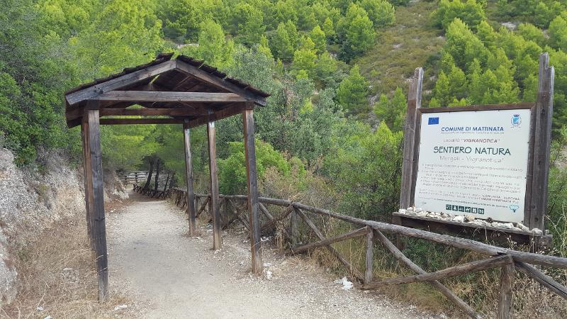 Küstenwanderung Mergoli-Vignanotica im Gargano Einstieg