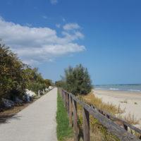Radweg Adriaküste bei Cupra Marittima