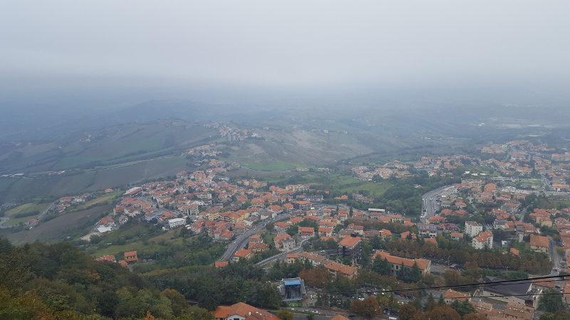 San Marino Wanderweg Percorso della Rupe und Altstadt