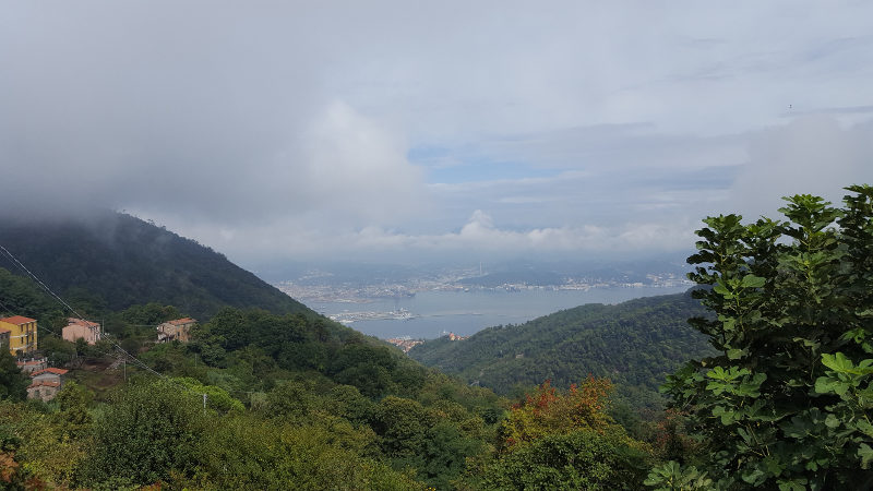 Ausblick Wanderung nach Portovenere