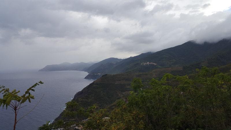 Aussicht bei Wanderung Riomaggiore Portovenere Ligurien