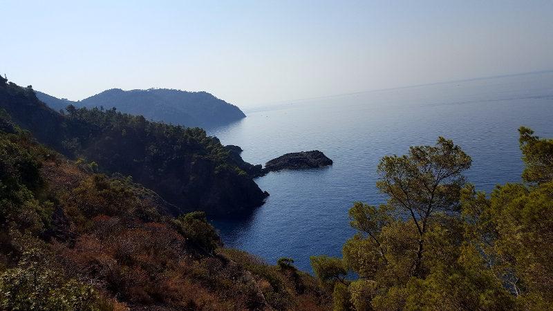 Aussicht bei Wanderung von Framura nach Bonassola
