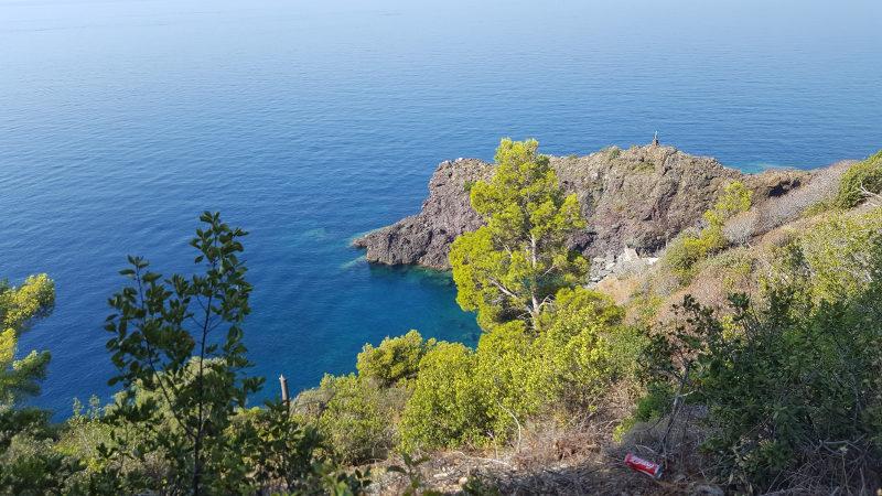 Entlang am Wanderweg Framura nach Bonassola in Ligurien