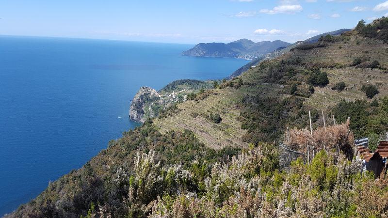 Aussicht bei Wanderung Cinque Terre