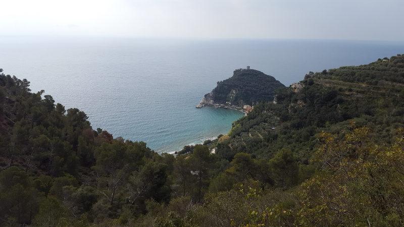Wanderung von Varigotti nach Noli in Ligurien, Italien
