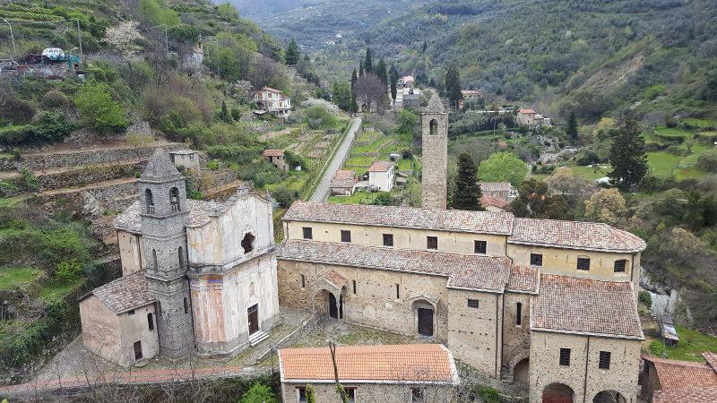 Dorf Ceriana, Provinz Imperia in Ligurien