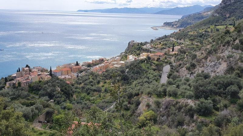 Wanderung Finale Ligure Varigotti, Blick auf Varigotti