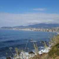Radweg Ligurien, Blick auf Küste bei Sanremo