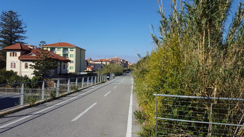 Küstenradweg Pista Ciclabile in Liguiren
