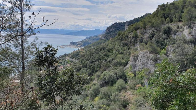 Aussicht bei Wanderung Finale Ligure nach Varigotti