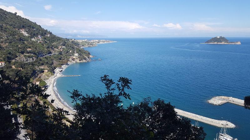 Wanderung Römerweg Blick auf Küstenregion