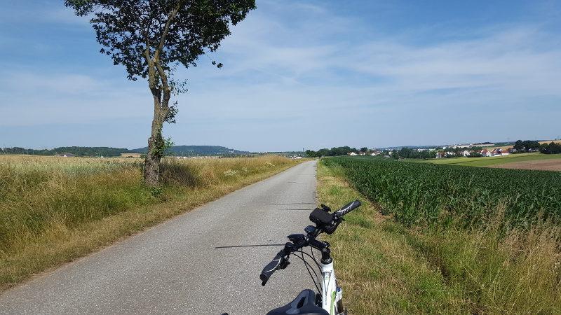 Radtour von Ammerthal nach Amberg - Blick nach Amberg