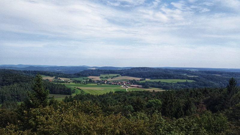 Aussicht vom Arzbergturm bei Deckersberg