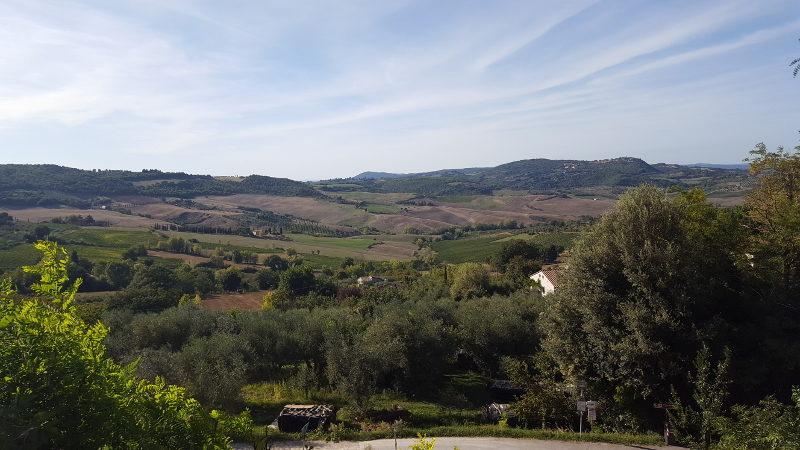 Radtour in den Weinbergen von Montepulciano - Aussicht