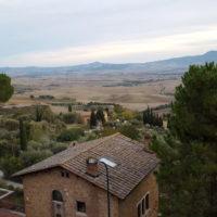 Ausblick auf die Umgebung von Pienza, Toskana