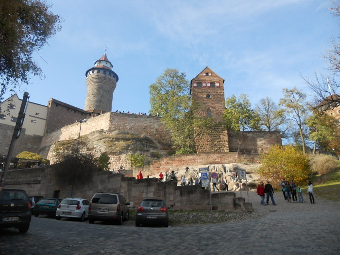 Nürnberg Blick hinauf zur Burg