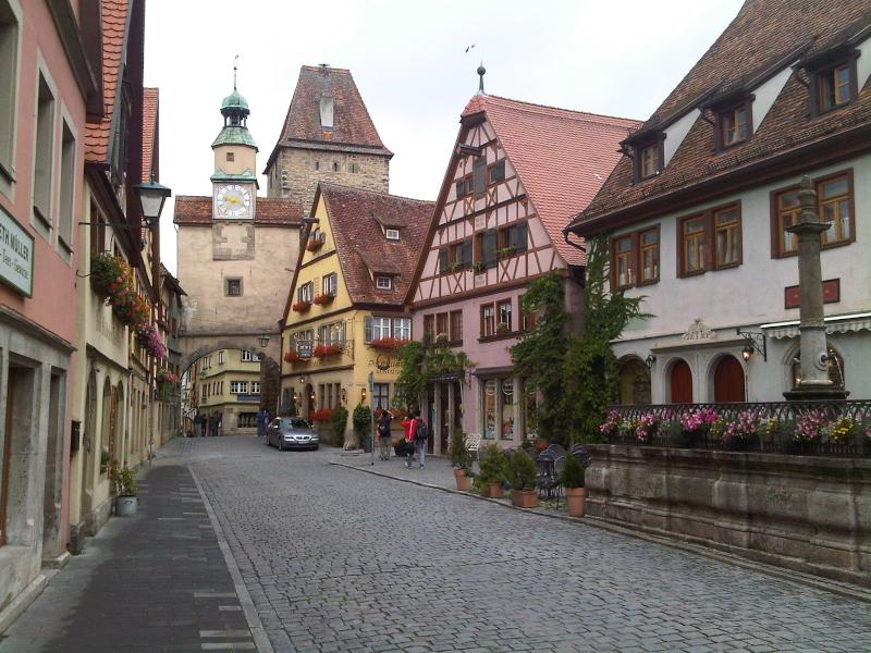 Rothenburg Blick auf Stadttor