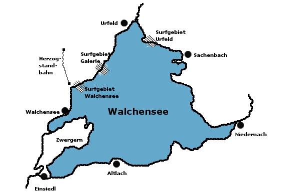 Walchensee Karte