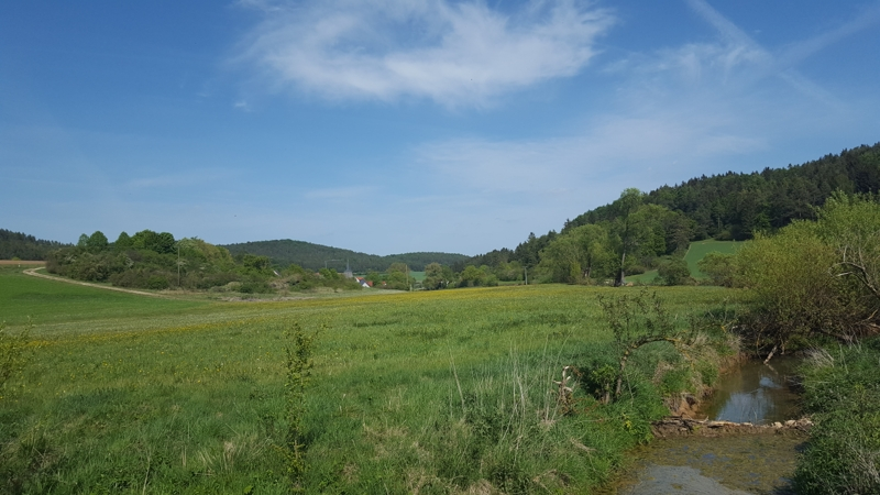 Radtour, Nähe Umelsdorf