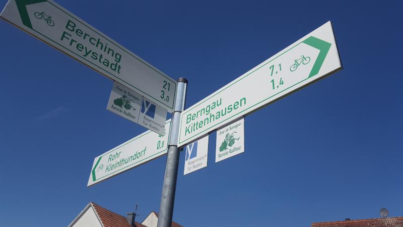 Radtour zum Rothsee - Wegweiser