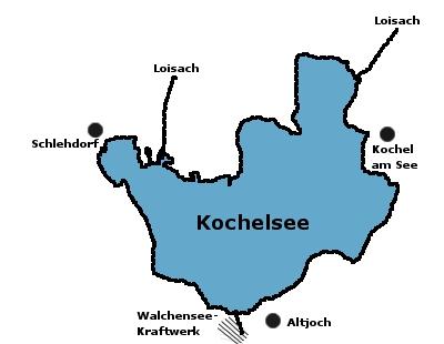 Kochelsee Karte