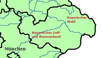 Landkarte Niederbayern