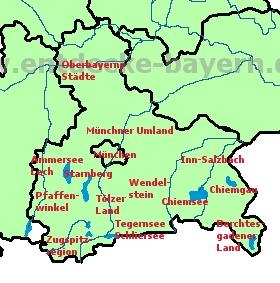 Oberbayern Karte