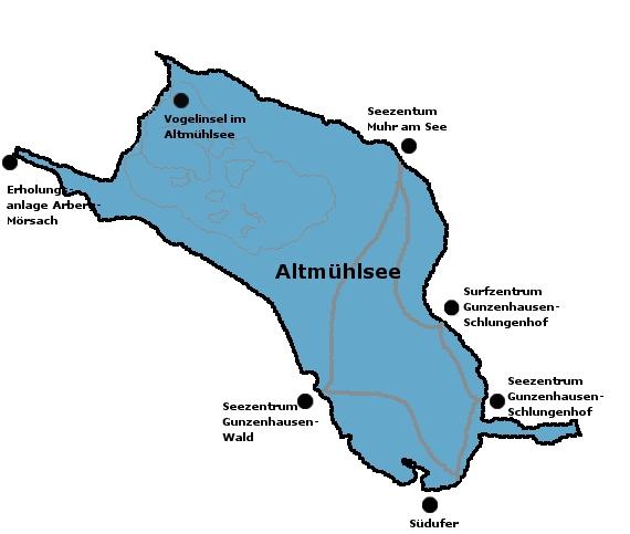Altmühlsee Karte