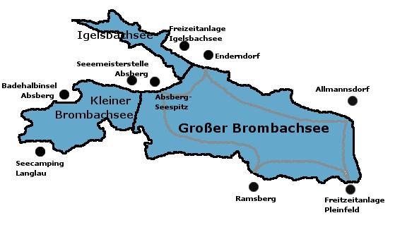 Brombachsee Karte