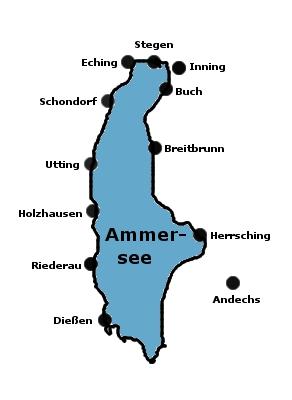 Ammersee - Urlaubsorte und Sehenswürdigkeiten
