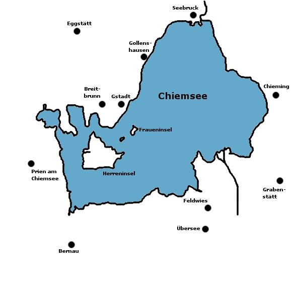 Chiemsee Karte