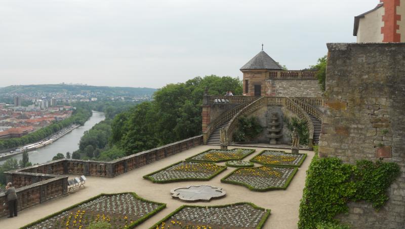Würzburg Festung Marienberg Garten