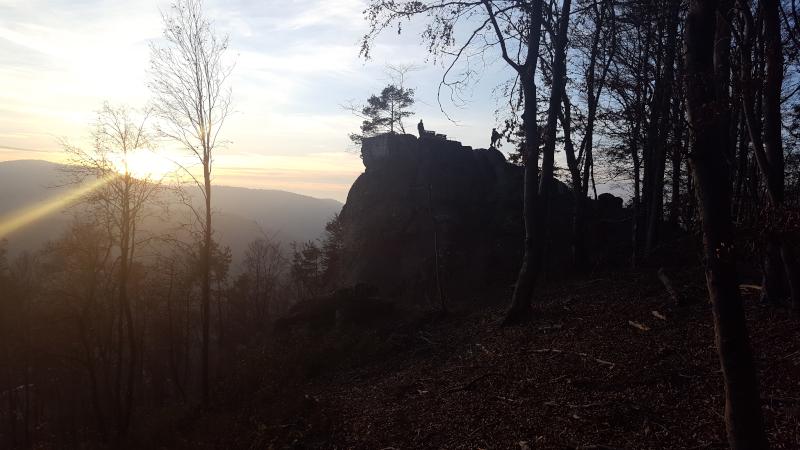 Sonnenuntergang am Zankelstein, Pommelsbrunn